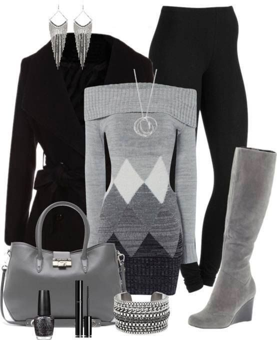 Grey, smart, elegant. The perfect outfit for everyday, in job, at home...