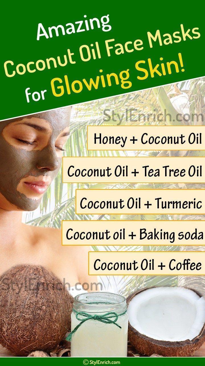 Coconut Oil Face Masks #BestFaceScrub #Homemadefacemasks  -  Hautpflege-Rezepte