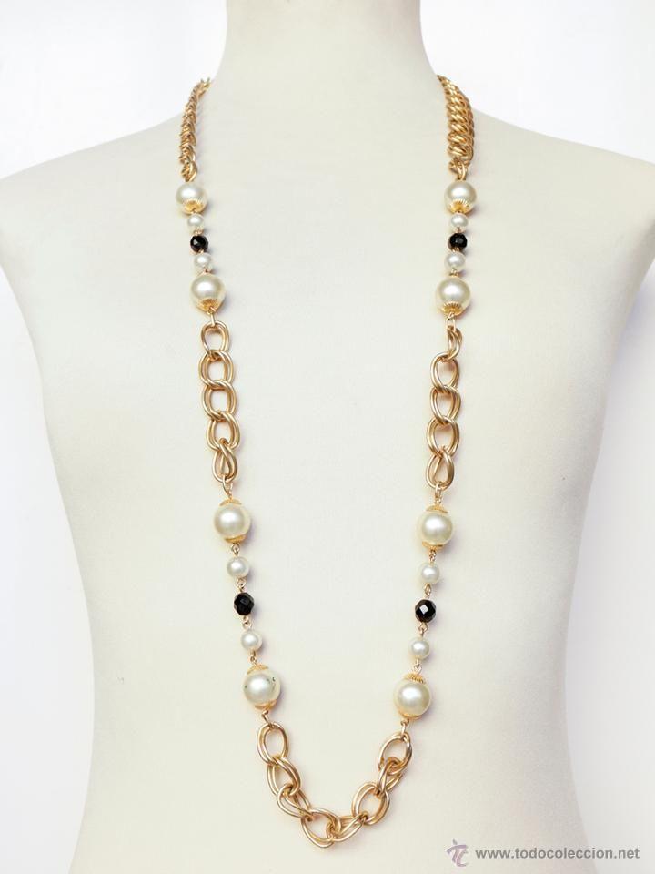 Cadena collar largo, años 70-80-  http://eldesvandebartleby.es/