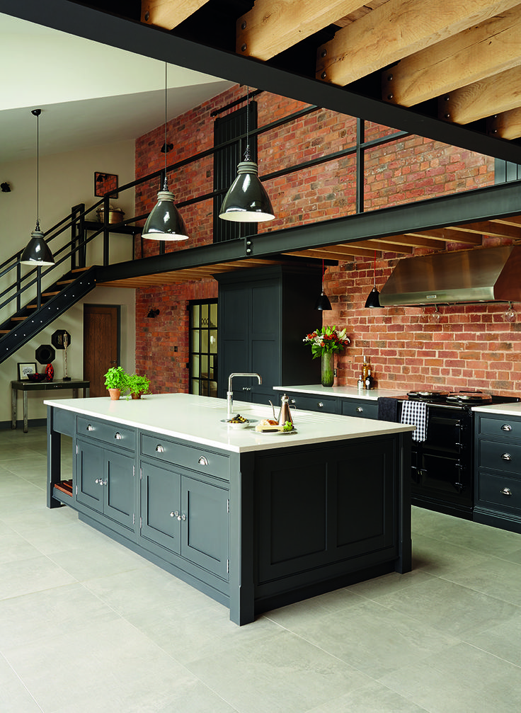 25 best tom howley industrial style shaker kitchen images for Industrial style kitchen uk