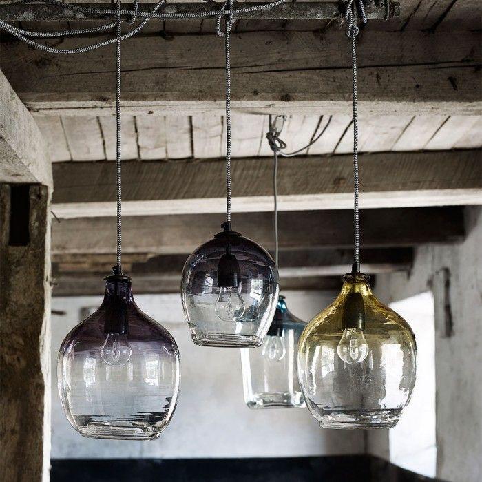 Lampada Bubble in vetro viola by Nordal