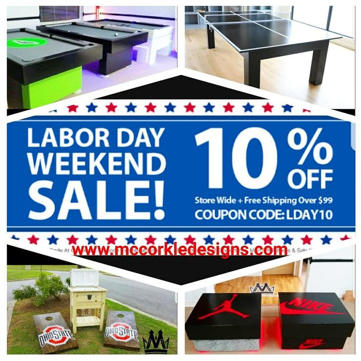 Labor Day Weekend Sale! 10% of all Items! www.mccorkkedesigns.com