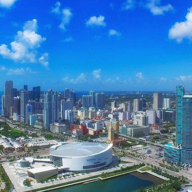 Downtown Miami. Soaring above American Airlines Arena for @afrealty. #xynntii #miami #inspire1