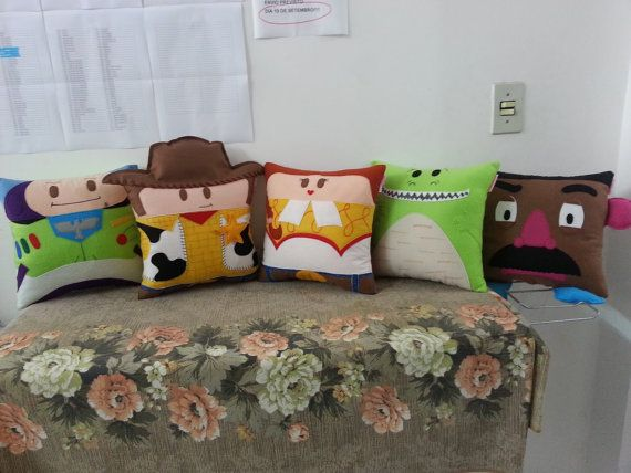 Handmade Toy Story Set Disney Pixar Party Favor Gift Stuffed Animal Toy Plush Pillow Cushion on Etsy, $129.95