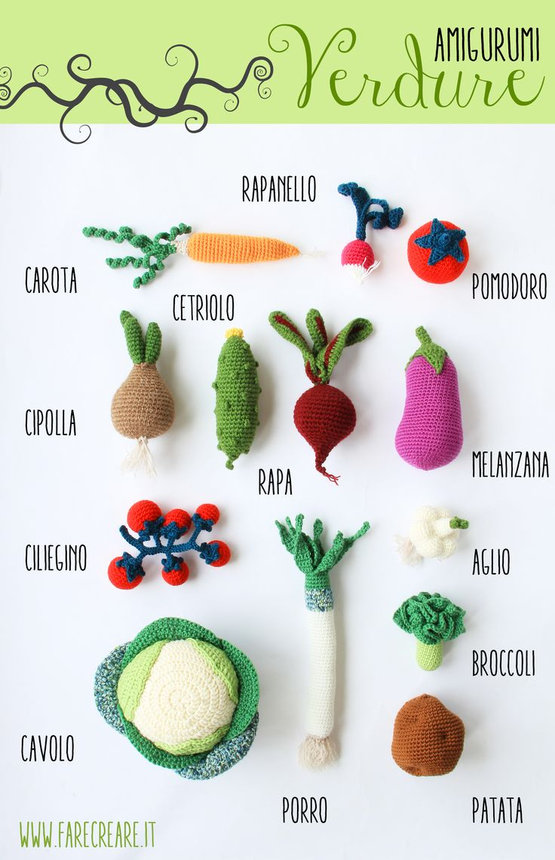286 best crochet images on pinterest tricot crochet crochet garlic amigurumi free crochet pattern in italian bankloansurffo Choice Image