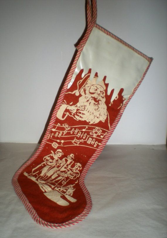 Exceptional Antique Christmas #1: Eb3c6c4cfab611b72de59621bde4b96f--vintage-christmas-stockings-vintage-santas.jpg