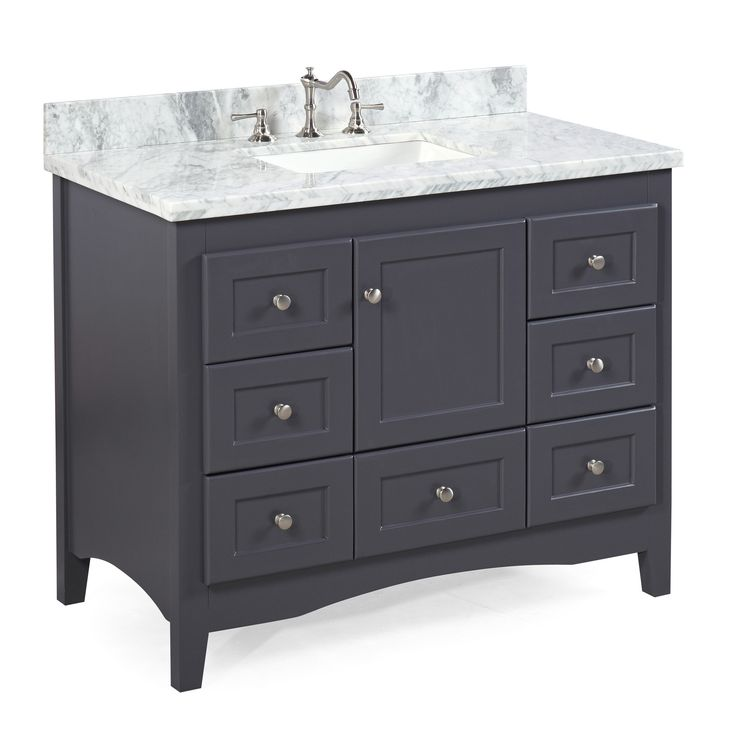 Abbey 42-inch Vanity (Carrara/Charcoal Gray)