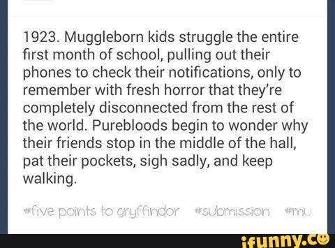 muggleborn, headcannon, hogwarts, harrypotter