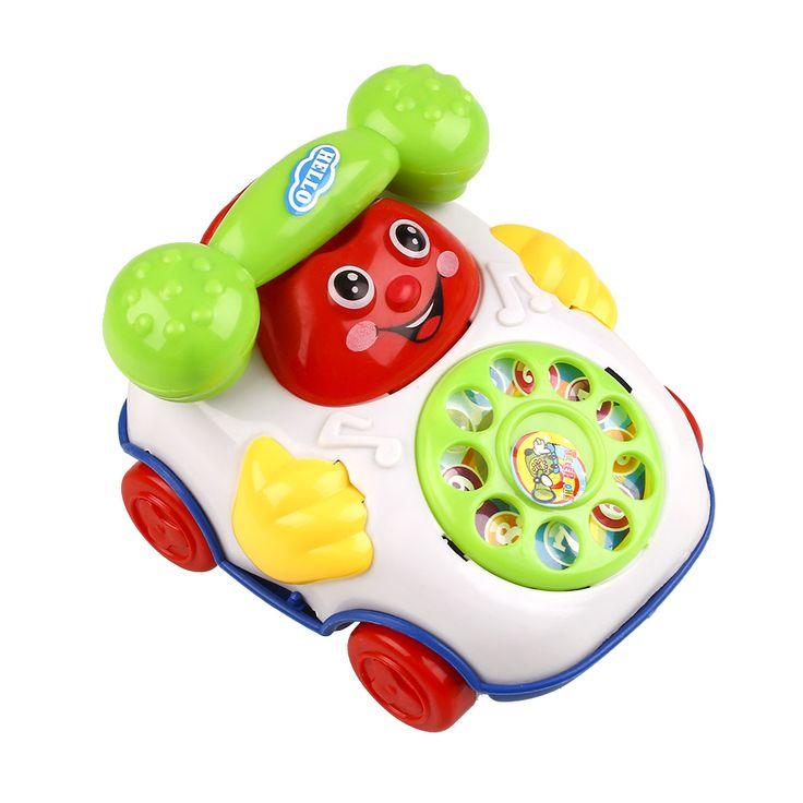 Baby Kids Children Small Music Smiling Face Cartoon Phone Developmental Toys