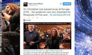 ROCKSBLOG: Christopher Lee: Fabio Lione homenageia o ator bri...