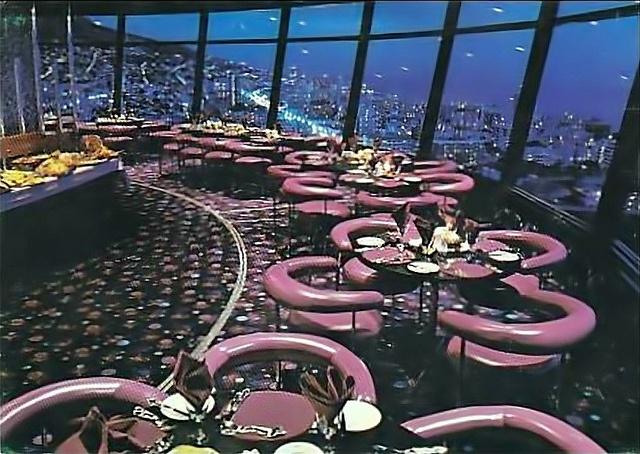 Top of the Ritz c1979: The Revolving restaurant aka The Revolting restaurant in Sea Point