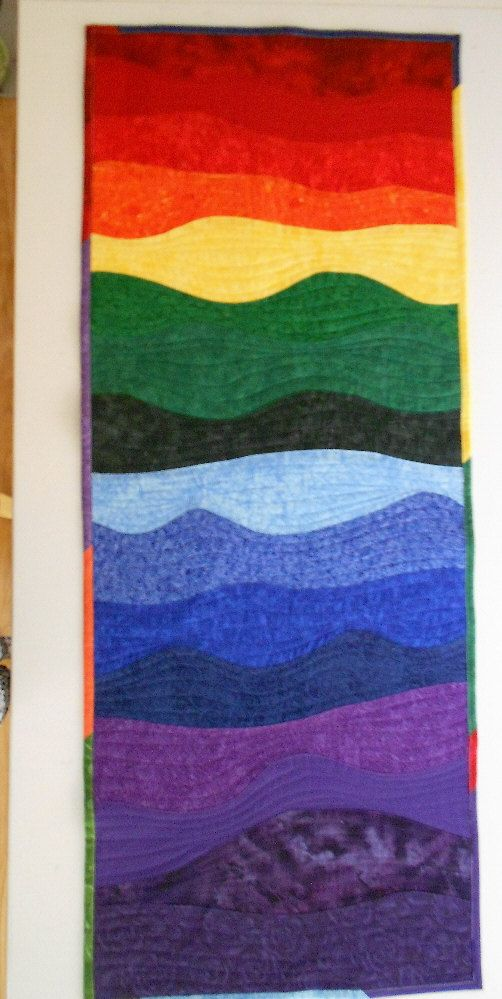 Over the Rainbow Quilt Wall Hanging Custom by SEWFUNQUILTS