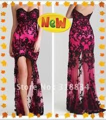 vestidos de noche largos color fucsia 2013 - Buscar con Google