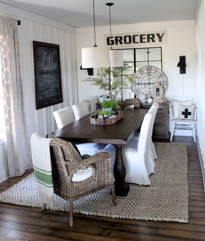 40 Rustic Living Room Ideas To Fashion Your Revamp Around: ~*Farmhouse Dining Room