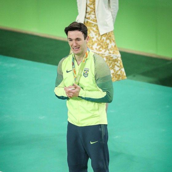 Diego Hypólito, na Arena Olímpica do Rio. O brasileiro se recuperou das frustrações nas Olimpíadas de 2012 e 2008 (Foto: Ricardo Nogueira/ÉPOCA)