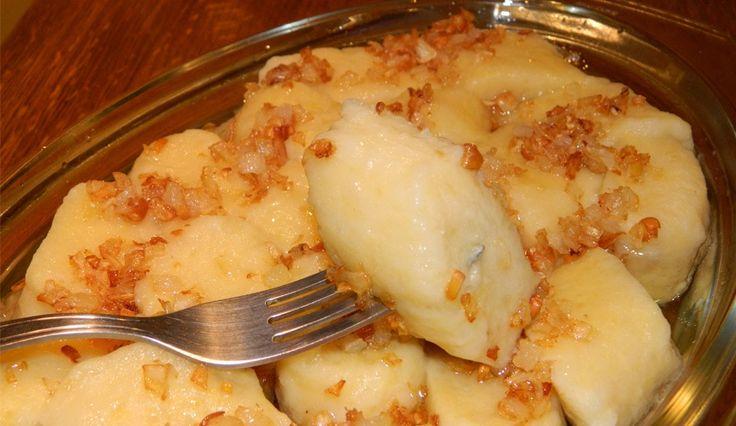 Dődöle (felvidéki étel) – Nagyon szaftos és ízes, itt-ott pirult galuska!