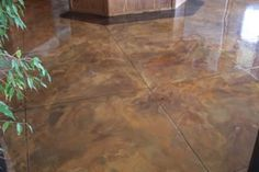 How to Acid Wash Concrete | Acid Stained Concrete Flooring achieves dazzling, one-of-a-kind design ...