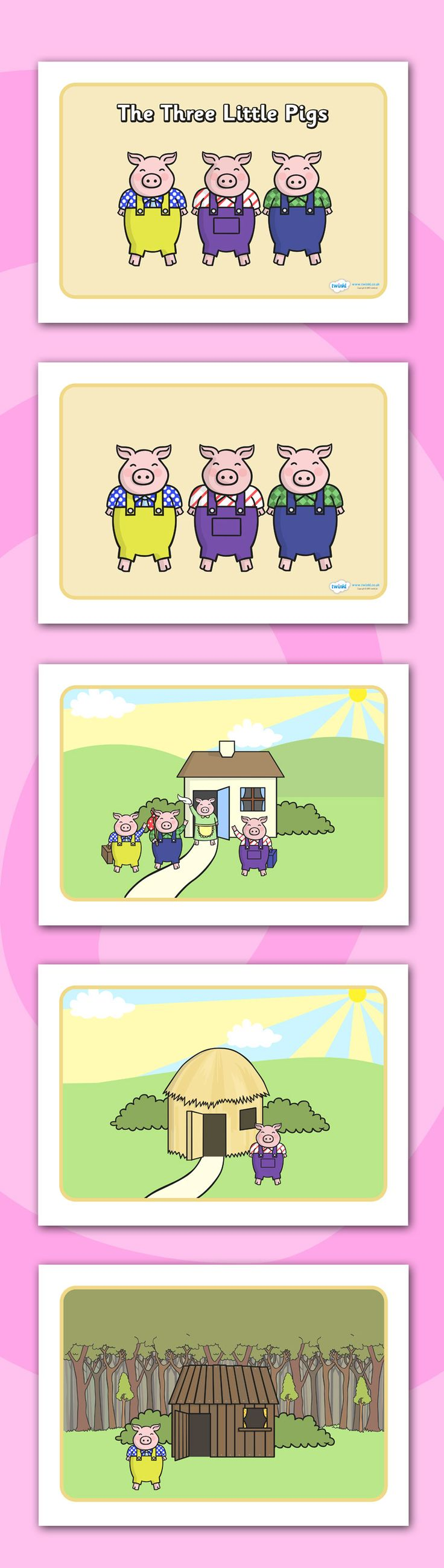 Twinkl Resources >> The Three Little Pigs Story Sequencing >> Printable resources for Primary, EYFS, KS1 and SEN. Thousands of classroom displays and teaching aids! Topics, Traditional Tales, The Three Little Pigs, Story Sequencing