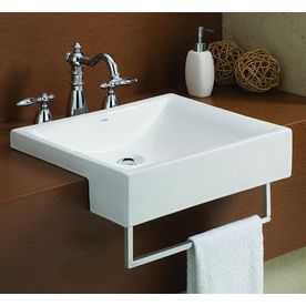 Cheviot Pacific White Drop In Rectangular Bathroom Sink