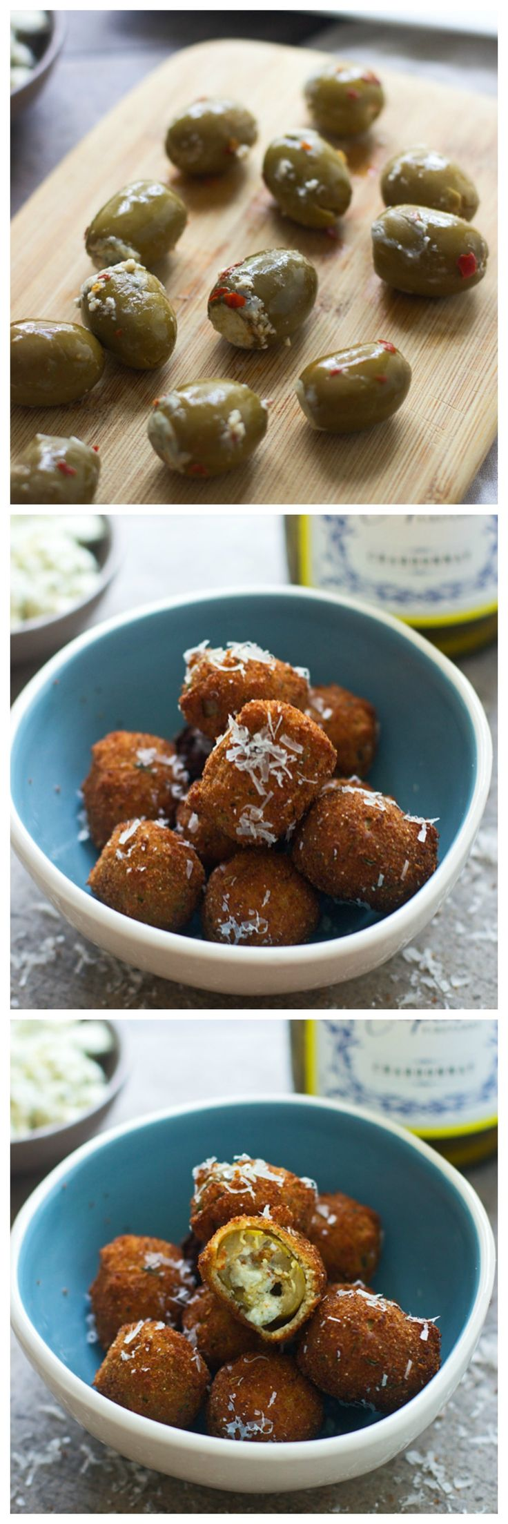 Fried Blue Cheese Stuffed Olives (Super easy!)