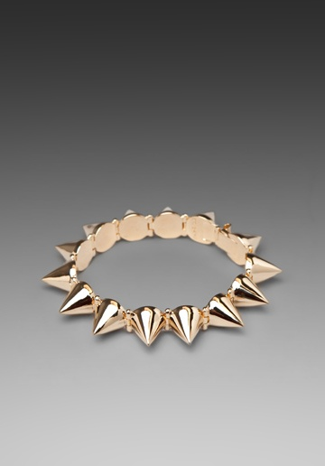 Spike Bracelet-looks really cute stacked with a watch and a few other bangles