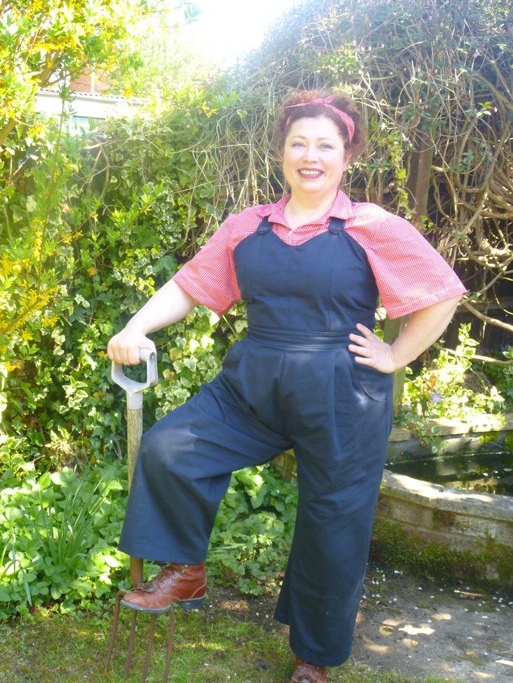 #vpp3 Rosie the Riveter, make room!  Based on a Folkwear pattern.
