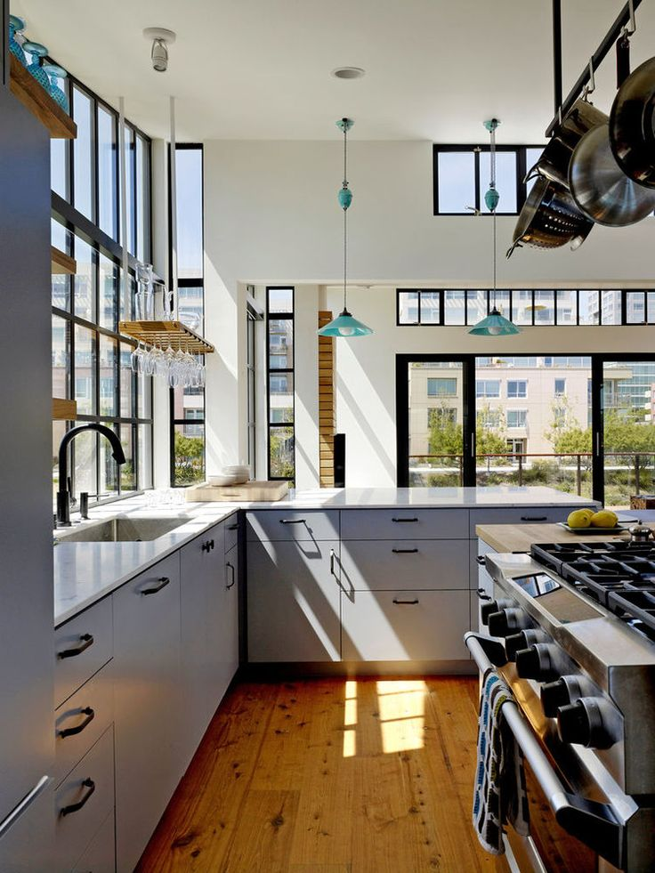 San Francisco floating home kitchen