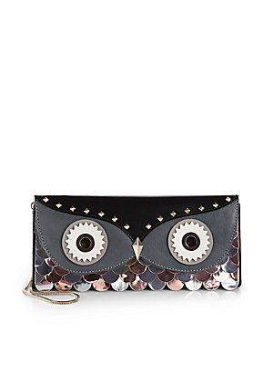 Kate+Spade+New+York Wise+Owl+Mixed-Media+Convertible+Clutch