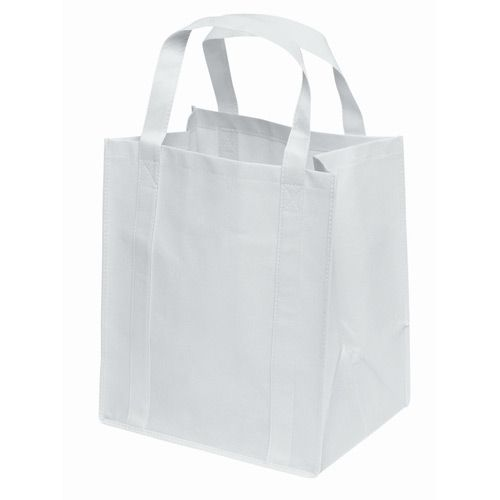 White Colour Cotton Fabric Shopping Bag