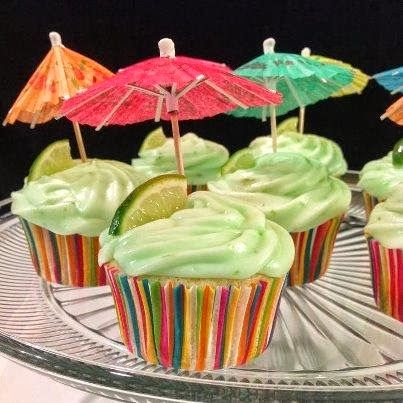 MyRecipeMagazine: Margarita Cupcakes With Key Lime Icing