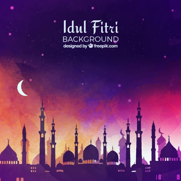 Download Idul Fitri Background With Mosque For Free In 2020 Islamic Music Background Design Vector Free
