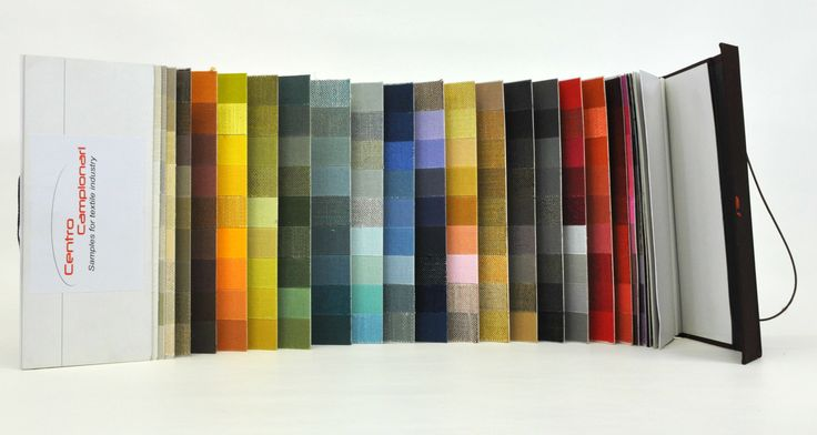 Cartella colore speciale a cascata Gammatura colori campionari tessili. Campionario tessile