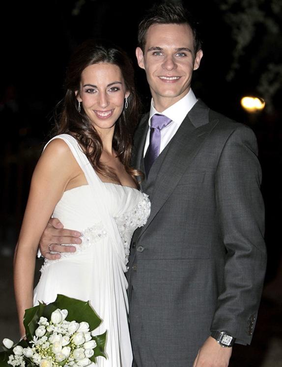 Almudena Cid y Christian Gálvez recién casados