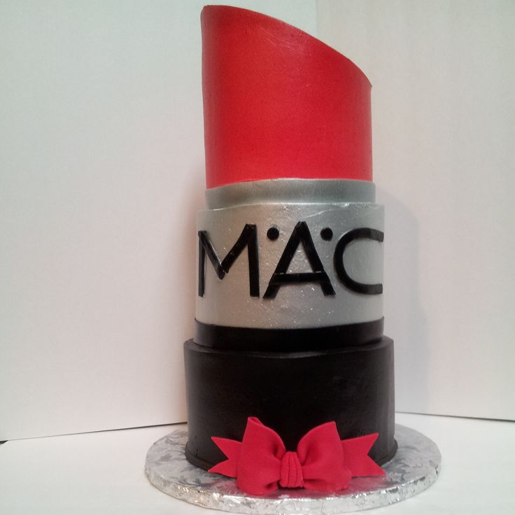 """Lipstick Cake: 6"""", 7"""", 8"""", Cakes All Frosted With"""