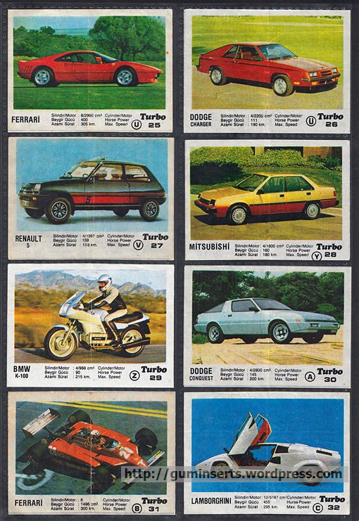 Turbo 1-50 | My Bubble Gum Inserts Collection