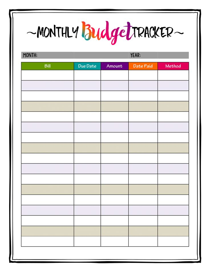 This is an image of Sizzling Monthly Bill Planner Printable