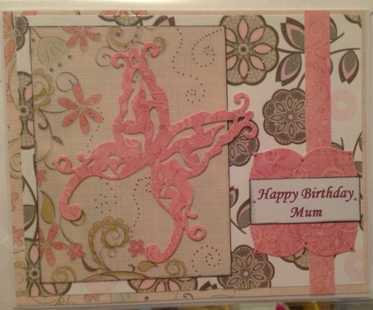 Simple floral birthday card!