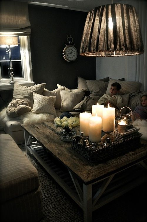 I chose this image because it looks very cozy, comforting, and a great place to sleep. The use of mass in this room is brilliantly used and because of the mass amount of mass it creates a very cozy and comforting look. The use of artificial light along with candle light also helps give that warm and comforting feeling.