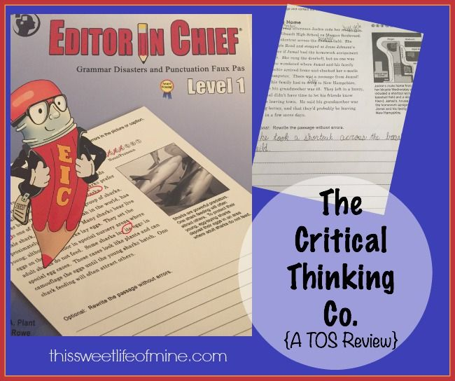 critical thinking homeschool reviews Download sample pages from james madison critical thinking course timberdoodle's review superbly easy for any homeschool family to use.