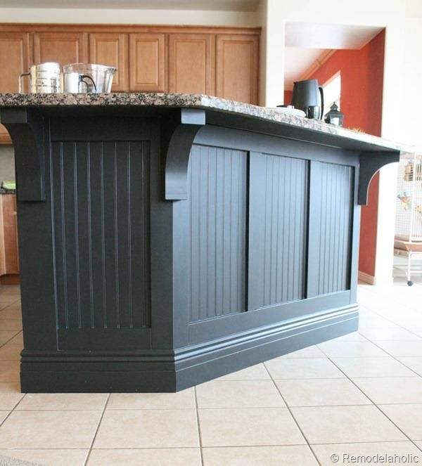 DIY Home: DIY Kitchen Island Makeover With Corbels: Part Two