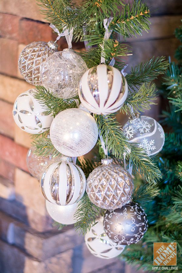 rustic christmas decorations to make | ... Ideas for a Rustic Glam Mantel: Silver and White Christmas Ornaments