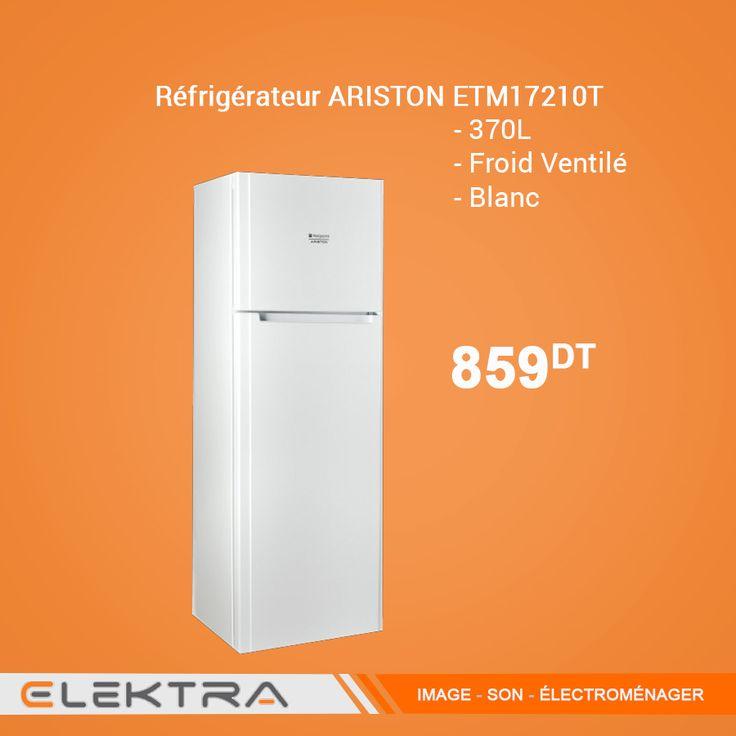 refrigerateur ariston etm17210t etm17210t 370l ventile blanc r frig rateur ventil elektra. Black Bedroom Furniture Sets. Home Design Ideas