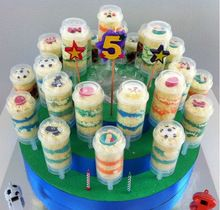 Пищевой 24 шт. росту поп контейнеры нажмите поп торт контейнер для ну вечеринку украшения в форме сердца и круг форма(China (Mainland))