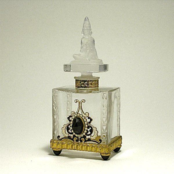 Viard Perfume Bottle w/ Austrian Jewel Metalwork, ca. 1900