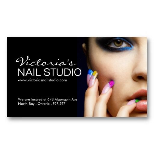 Paper business card templates card templates and for 24 hr nail salon nyc