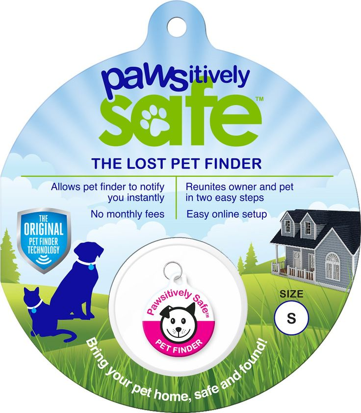 Losing a pet can be heartbreaking, but the Platinum Pets Pawsitively Safe Pet Finder Tag for Dogs makes finding your dog an easy and stress-free process. The durable tag is covered in a scratch- and water-resistant epoxy coating, and it has a unique code on the back. Once you enter this code on the Pawsitively Safe site, you can create a profile with your email and phone number. This info can be updated at any time, and there are no monthly fees for the profile. If your pup goes missing…