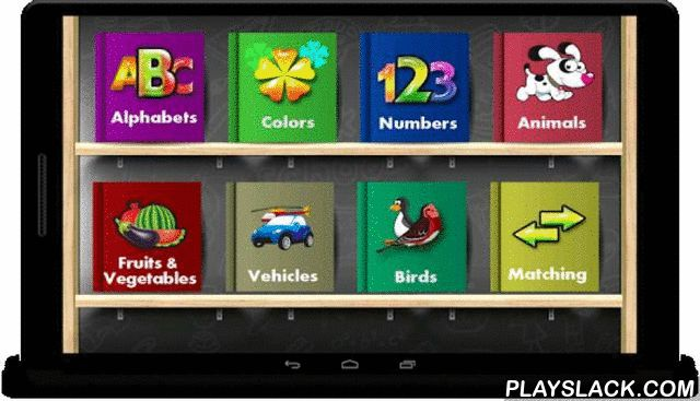 Kids Learning ABCD - FREE  Android App - playslack.com , Educational games for kids free1. Kids Learning ABCD.2. Colors Name3. Kids Learning Numbers4. Animal Names5. Fruits & Vegetables Name6. Birds Name  And in last they take test by using 7. Matching All above mention features are given with sounds and spellings. Kids definitely enjoy it's easy to use UI, functionality and beautiful pictures.We also show fewer ads compare to other.