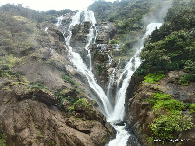 Dudhsagar waterfalls – A place for nature lover and enthusiasts like us, it is the place situated in the middle of a forest on the Goa-Karnataka border. Dudhsagar railway station (upper part) can be access by train directly or trekking from Castle Rock or Kulem railway track
