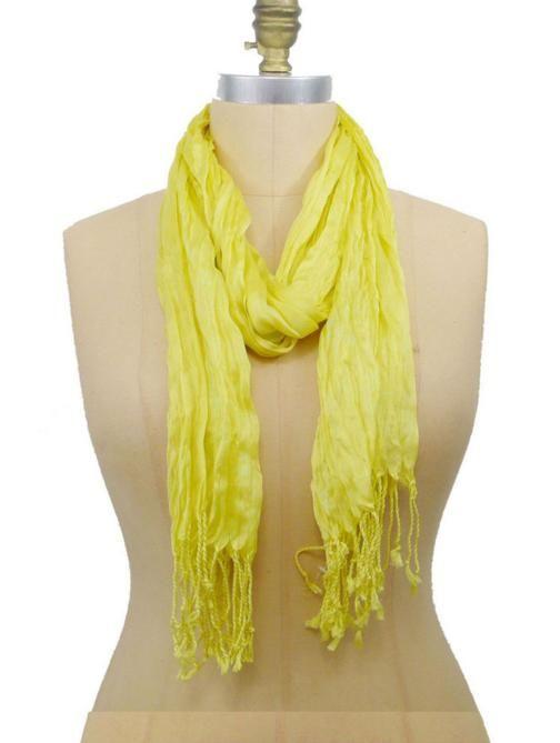 Yellow Soft Twist Scarf