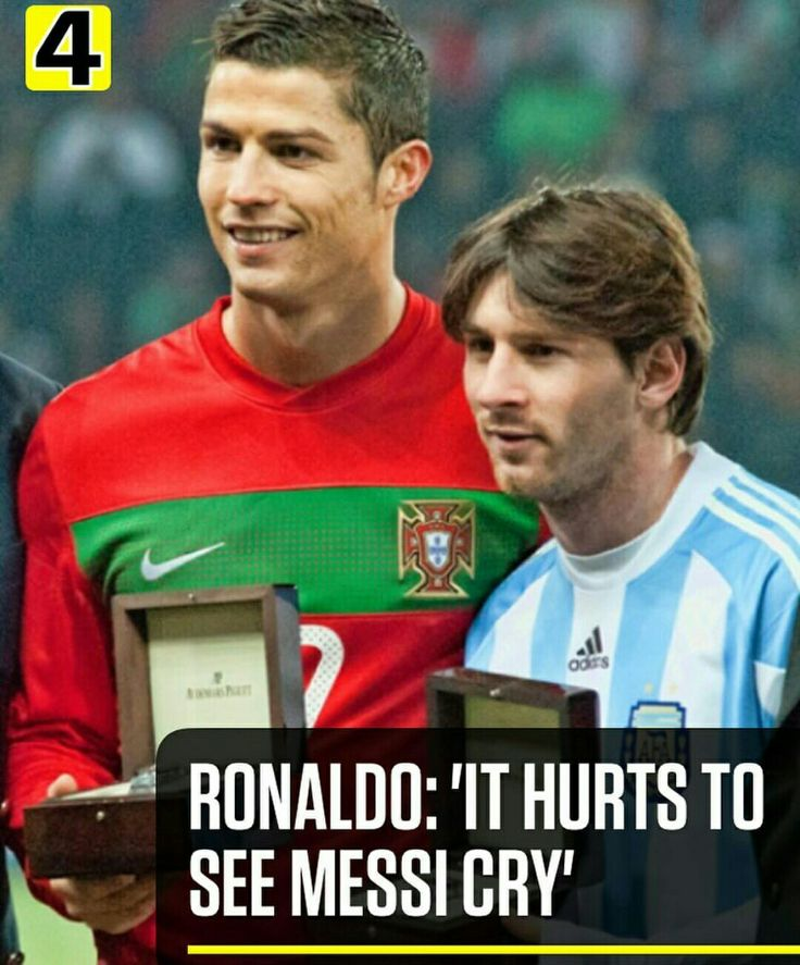 """CRISTIANO HURTS TO SEE MESSI CRY ""#RESPECT, GOODNIGHT  Photos from Instagram:@433"